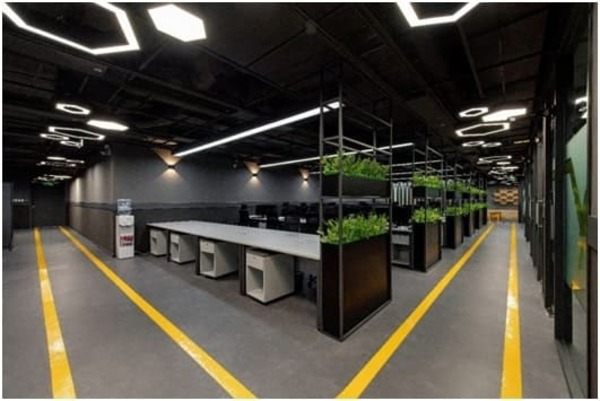 không gian xanh của văn phòng - Crystal Design TPL