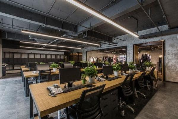 không gian xanh trong văn phòng - Crystal Design TPL