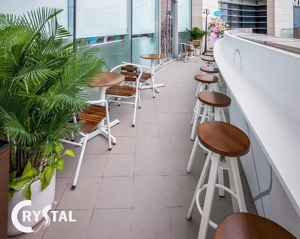 thiết kế không gian làm việc xanh - Crystal Design TPL