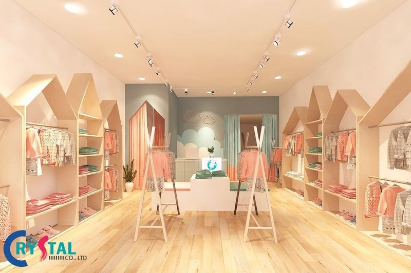 bảng giá thiết kế shop thời trang - Crystal Design TPL