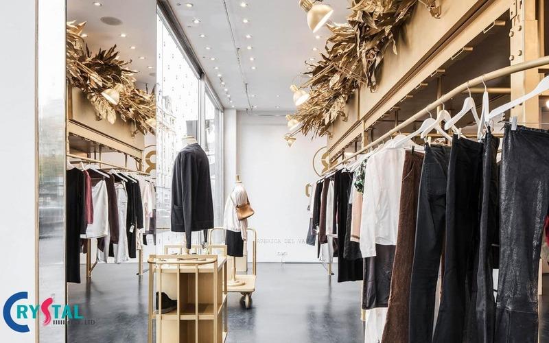 báo giá thiết kế cửa hàng quần áo - Crystal Design TPL