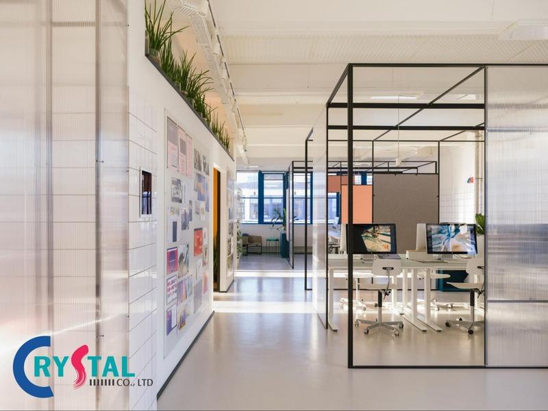 bố trí phòng làm việc tại cơ quan - Crystal Design TPL