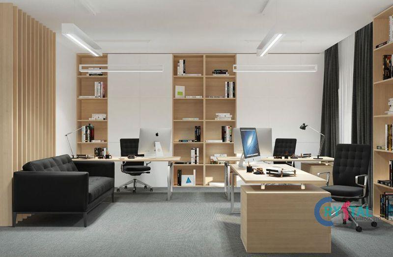 bố trí phòng làm việc tại nhà - Crystal Design TPL
