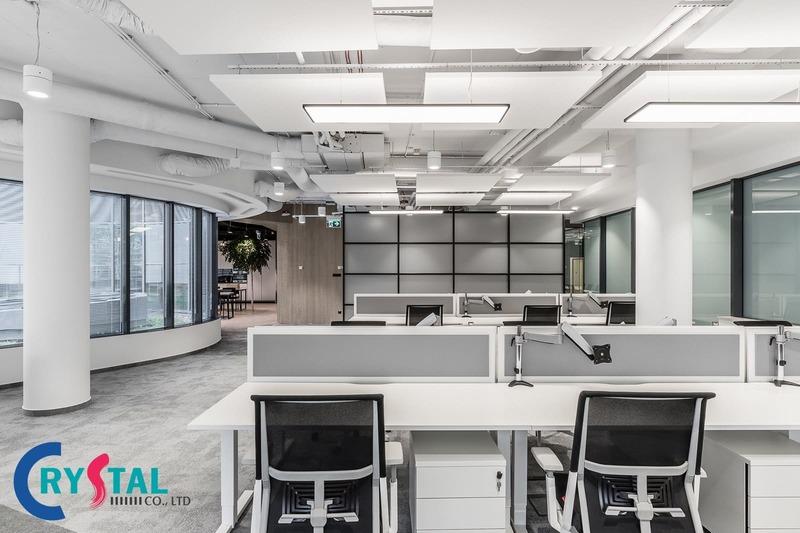 bố trí văn phòng làm việc nhỏ - Crystal Design TPL