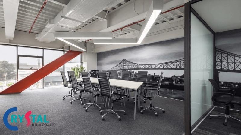 bố trí văn phòng làm việc - Crystal Design TPL