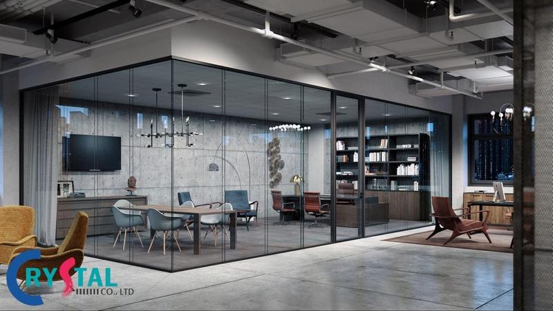 các kiểu thiết kế văn phòng đẹp - Crystal Design TPL