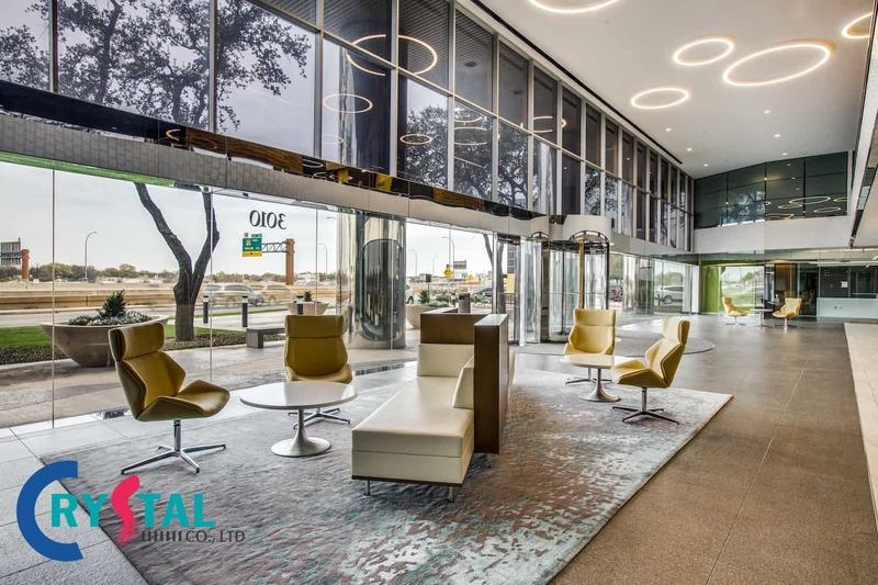 các mẫu nội thất văn phòng đẹp - Crystal Design TPL