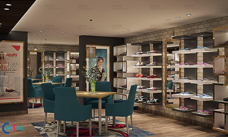 các mẫu thiết kế nội thất showroom - Crystal Design TPL