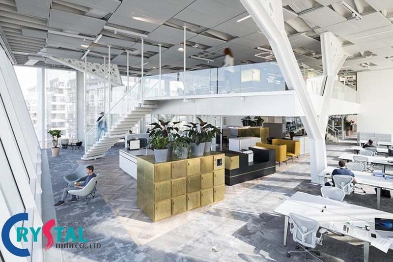 các mẫu thiết kế nội thất văn phòng hiện đại - Crystal Design TPL