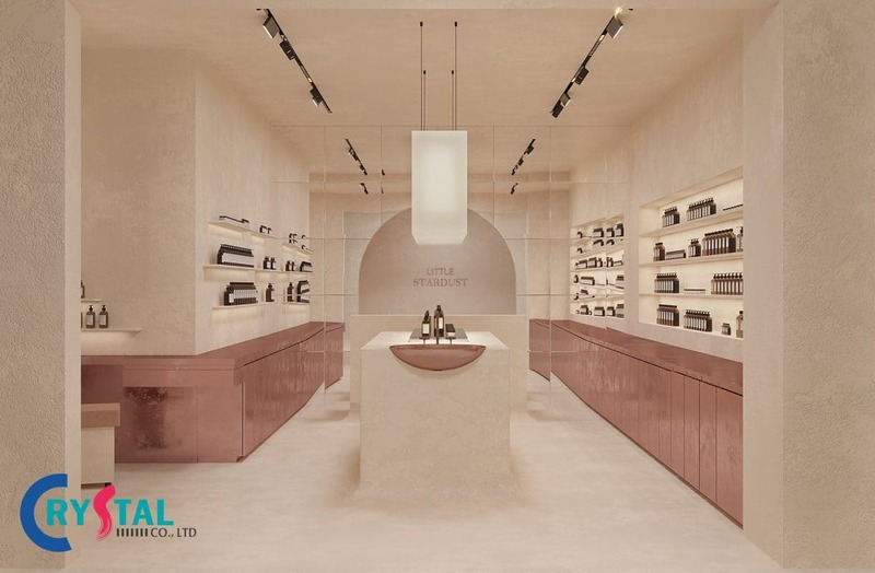 các mẫu thiết kế shop mỹ phẩm - Crystal Design TPL