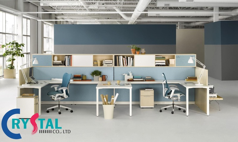 các mẫu thiết kế văn phòng đẹp - Crystal Design TPL