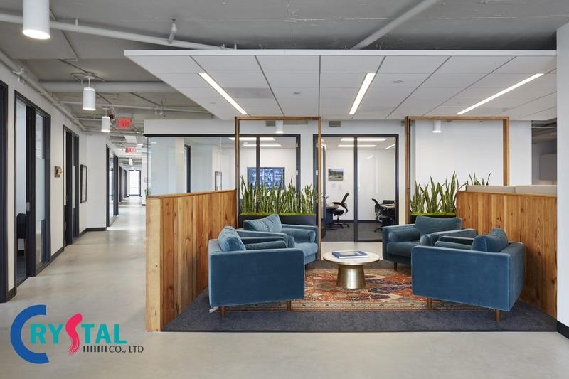 các mẫu thiết kế văn phòng hiện đại đẹp - Crystal Design TPL