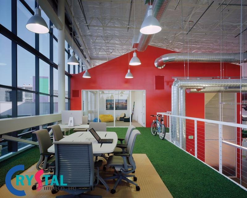các mẫu văn phòng đẹp - Crystal Design TPL