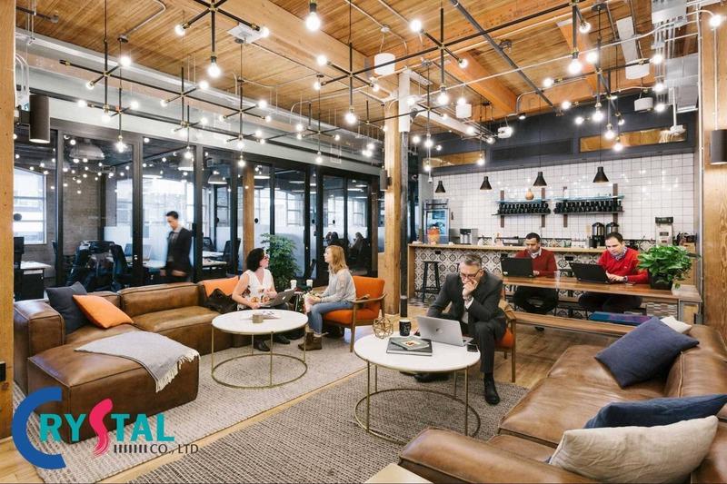 các mẫu văn phòng làm việc hiện đại - Crystal Design TPL