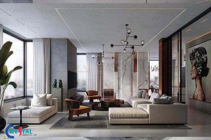 các phong cách thiết kế nội thất hiện đại - Crystal Design TPL