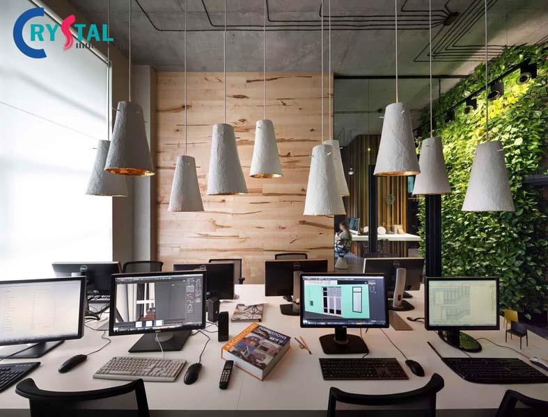 các thiết kế văn phòng theo xu hướng hiện đại - Crystal Design TPL