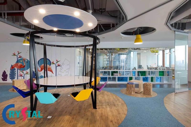 cách bố trí văn phòng làm việc diện tích nhỏ - Crystal Design TPL