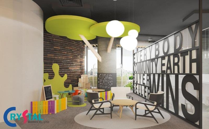 Hãy tận dụng các không gian trống để thiết kế các câu slogan cổ vũ nhân viên