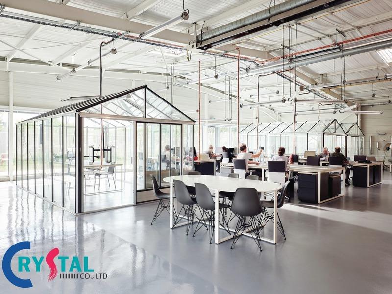 cách sắp xếp phòng làm việc - Crystal Design TPL