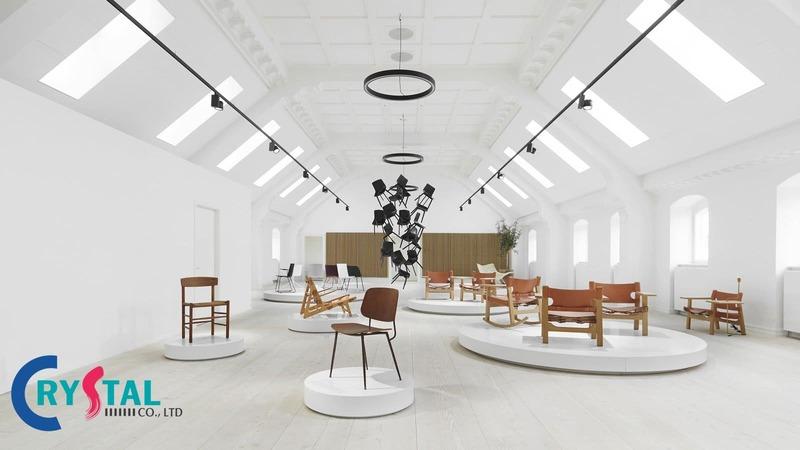 cách thiết kế nội thất cửa hàng đẹp - Crystal Design TPL