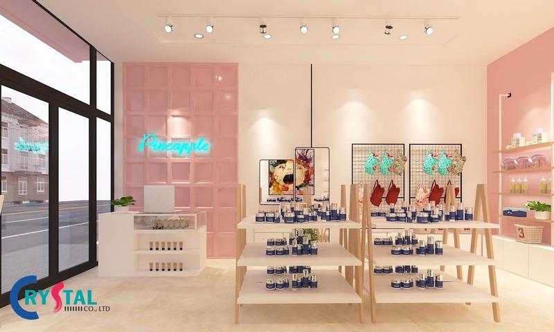 cách thiết kế shop mỹ phẩm - Crystal Design TPL