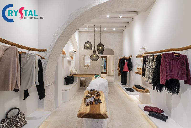 cách thiết kế shop quần áo thời trang - Crystal Design TPL