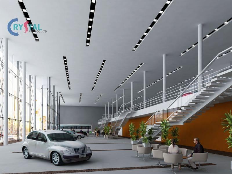 cách thiết kế trang trí showroom ô tô - Crystal Design TPL