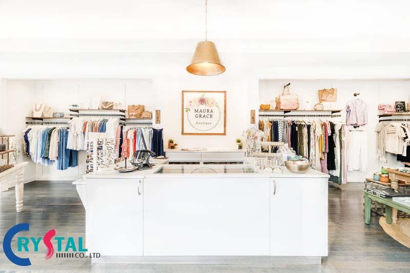 cách trang trí shop quần áo đơn giản