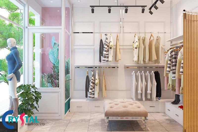 cách trang trí shop quần áo nhỏ