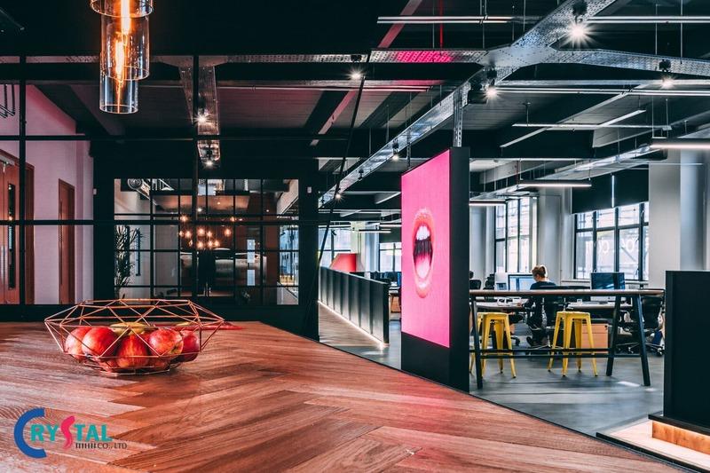 chi phí thiết kế nội thất văn phòng - Crystal Design TPL