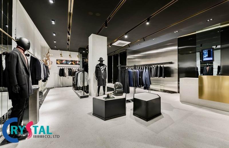 chi phí thiết kế shop quần áo - Crystal Design TPL