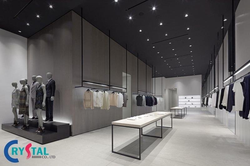 chi phí thiết kế shop thời trang - Crystal Design TPL