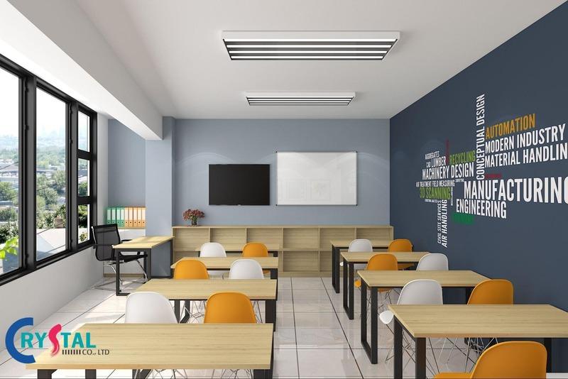 chuyên thiết kế nội thất văn phòng - Crystal Design TPL
