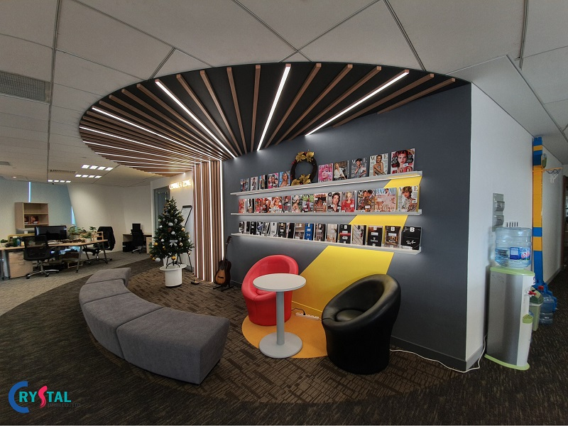 chuyên thiết kế thi công nội thất văn phòng đẹp - Crystal Design TPL