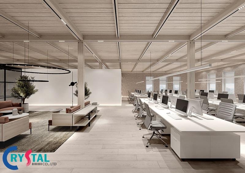 chuyên thiết kế thi công nội thất văn phòng - Crystal Design TPL