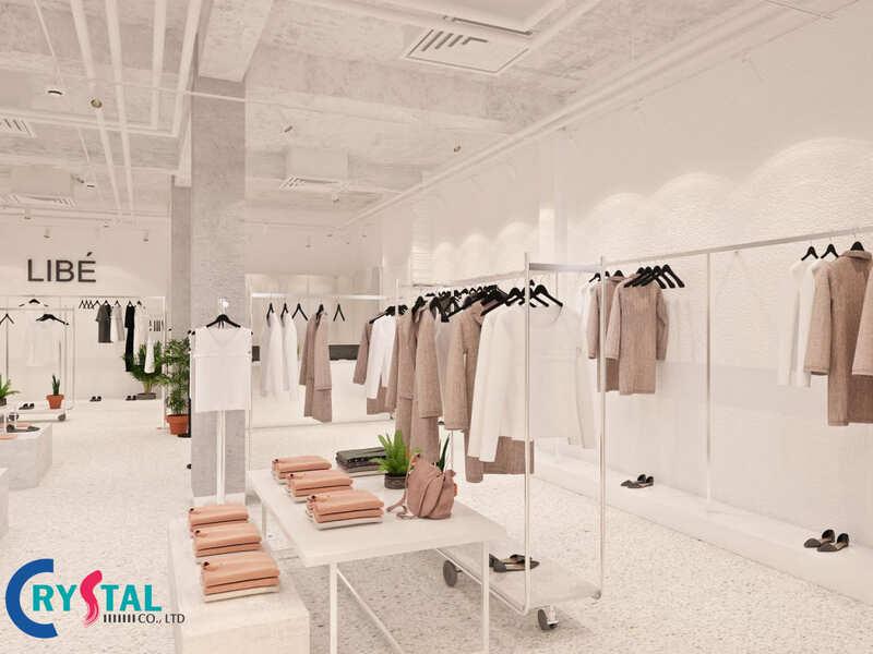 chuyên thiết kế thi công shop thời trang - Crystal Design TPL