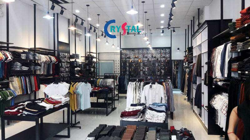 decor shop quần áo nam - Crystal Design TPL