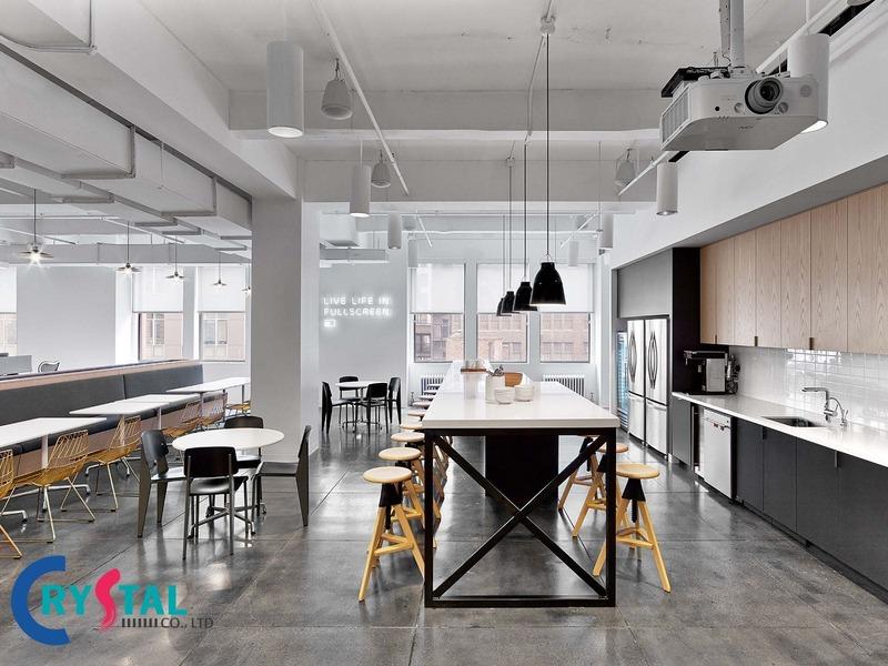dịch vụ thiết kế thi công văn phòng hcm - Crystal Design TPL