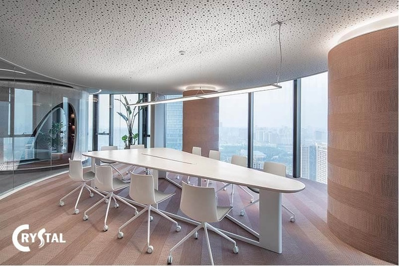 diện tích thiết kế phòng họp hiện đại - Crystal Design TPL