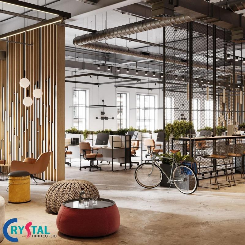 định nghiã văn phòng xanh đẹp - Crystal Design TPL