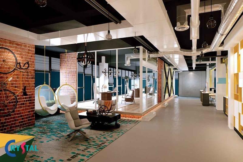 đơn giá thiết kế văn phòng trọn gói - Crystal Design TPL