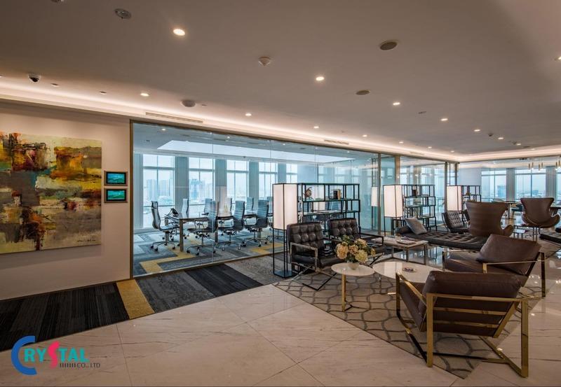 giá thiết kế nội thất văn phòng - Crystal Design TPL