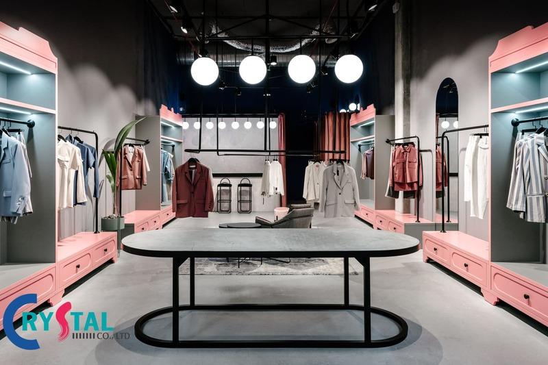 giá thiết kế shop thời trang - Crystal Design TPL