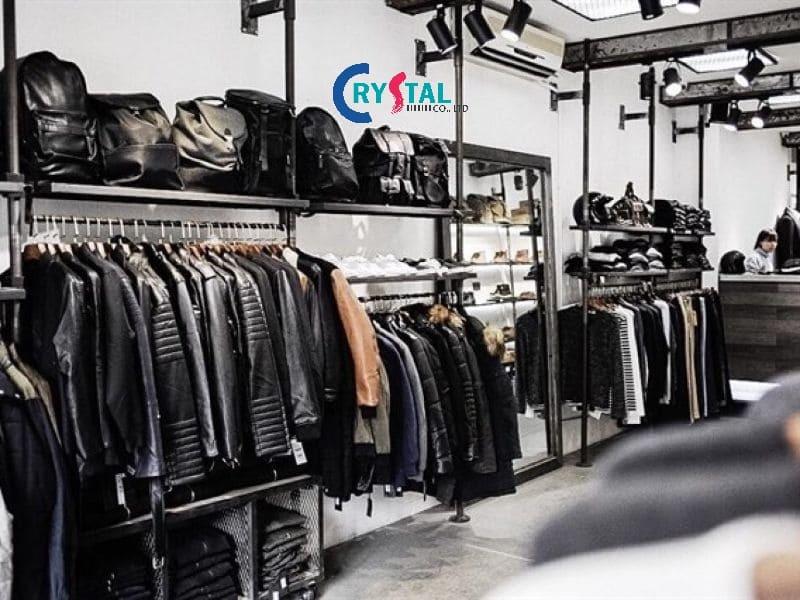 hình ảnh thiết kế cửa hàng thời trang nam - Crystal Design TPL