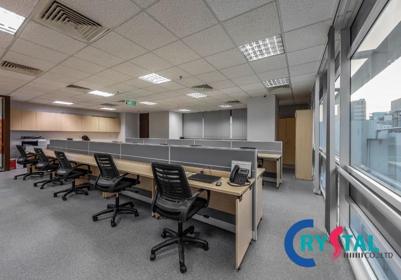 không gian làm việc mở - Crystal Design TPL