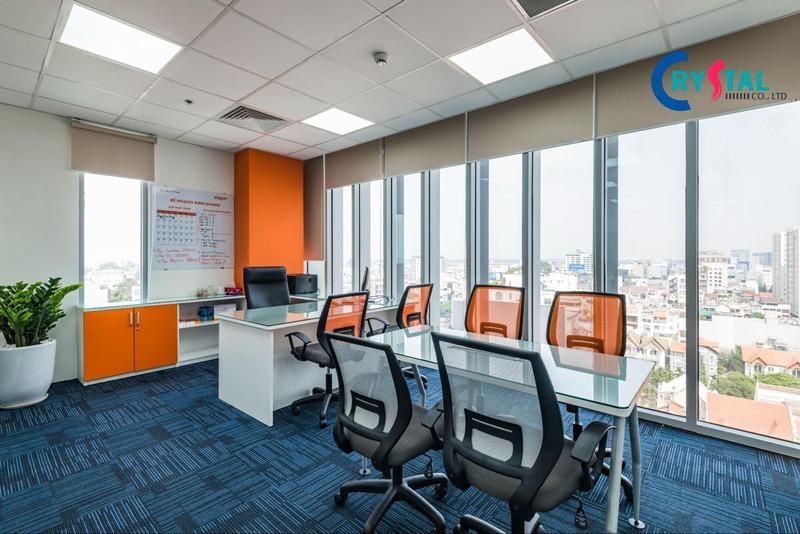 không gian làm việc văn phòng đẹp - Crystal Design TPL