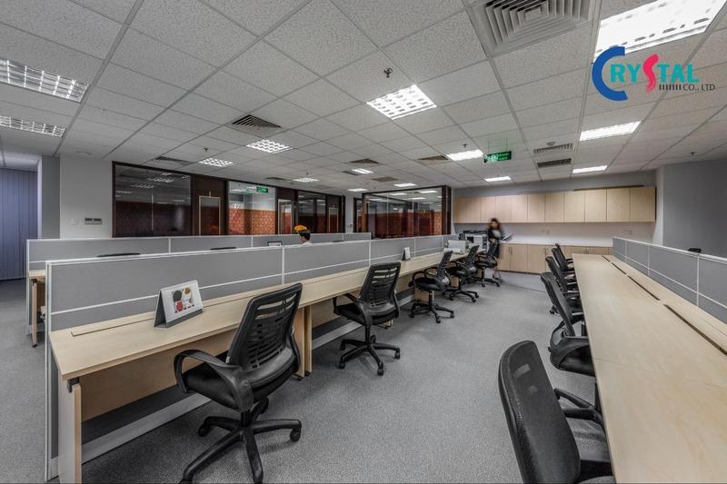 không gian làm việc văn phòng - Crystal Design TPL