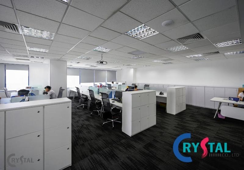 không gian mở cho văn phòng - Crystal Design TPL