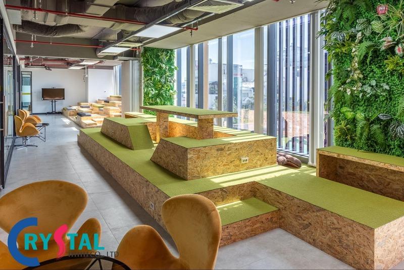 không gian nội thất văn phòng - Crystal Design TPL