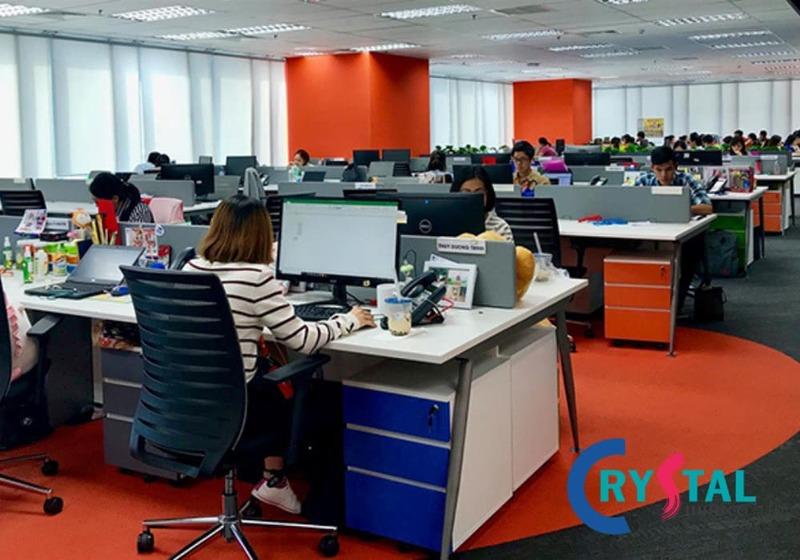 không gian văn mở cho văn phòng làm việc - Crystal Design TPL